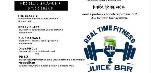 Real-Time Fintess & Juice Bar