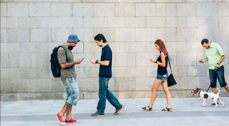 Screen Zombies Walking