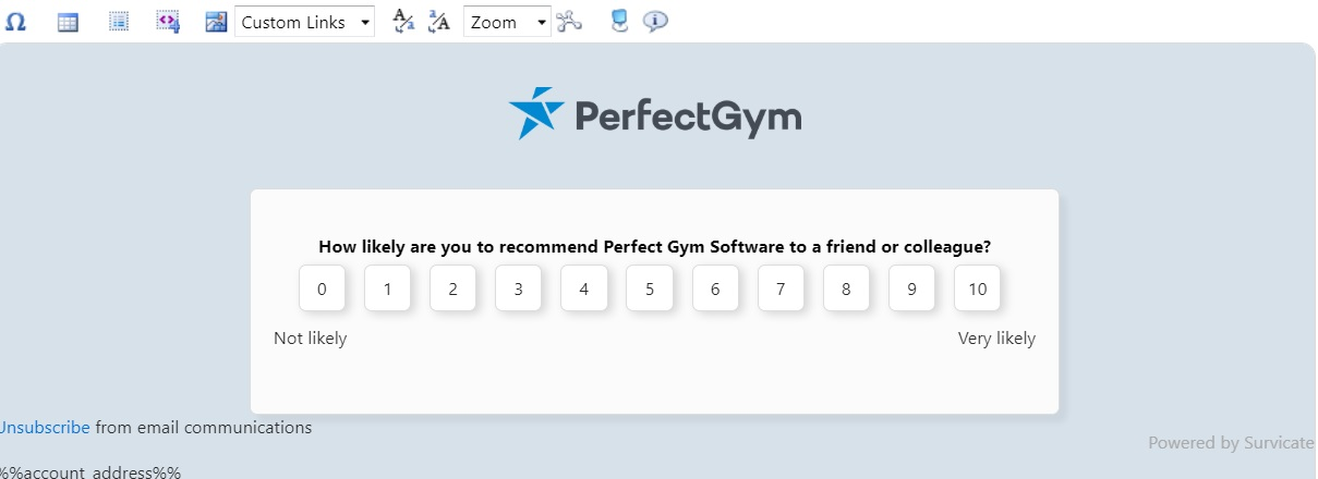 Fitness club net promoter score