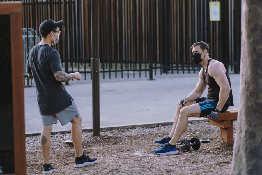 Outdoor workouts, but consider the law