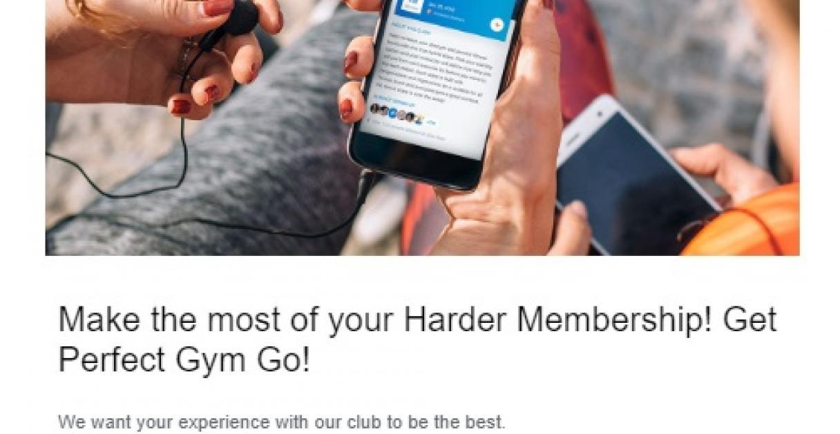Example of fitness newsletter