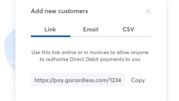 Perfect Gym customer-centric payments Screenshot of Gocardless direct debit link