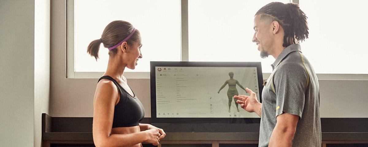 Gold Gym 3D body scanner