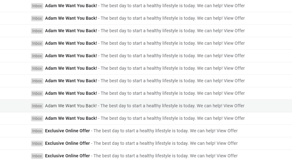 example of bad email automation