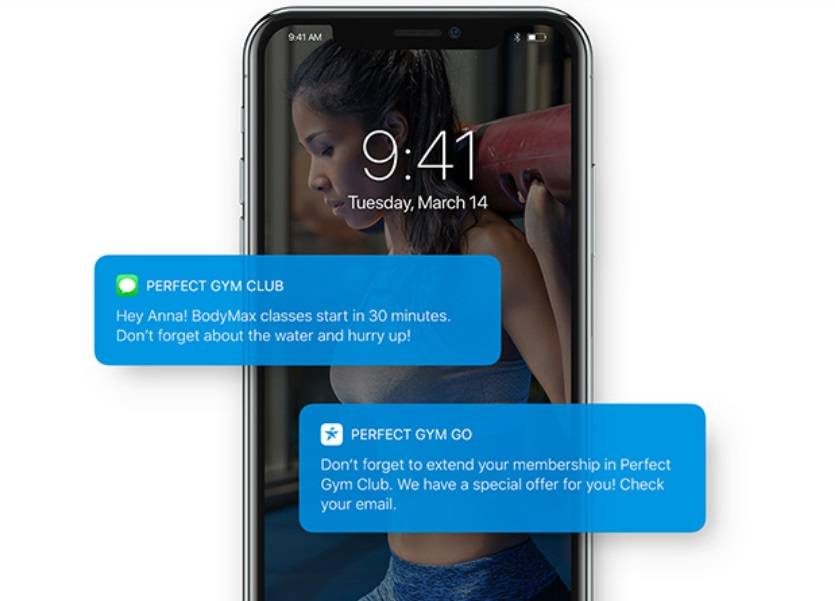 Fitness push notification for mobile
